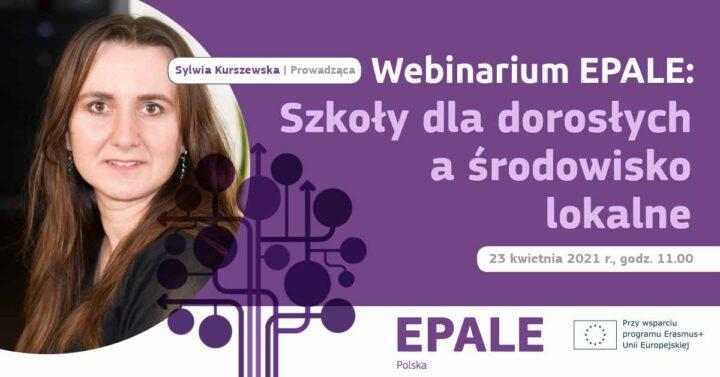 Webinarium EPALE: Szkoły dla dorosłych a środowisko lokalne